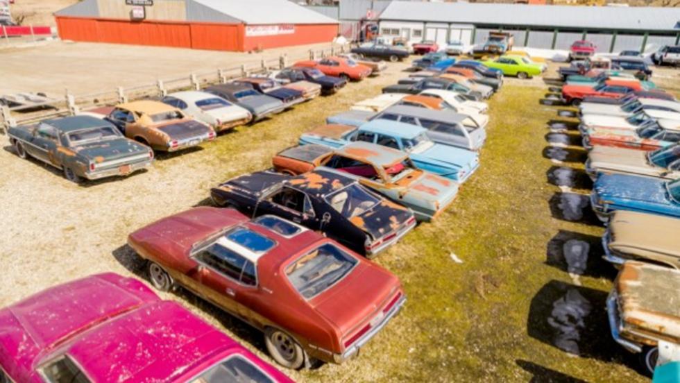 Finca con coches clásicos (III)