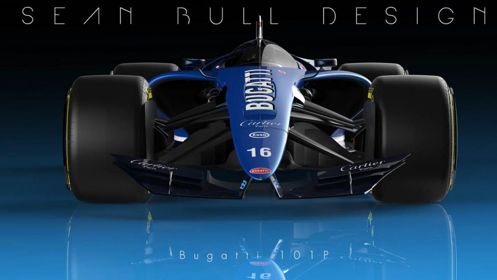 Frontal del Bugatti 101P