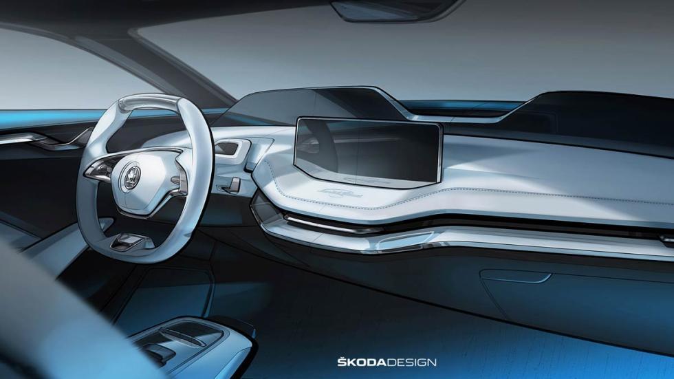 Interior Skoda Vision E prototipo concept