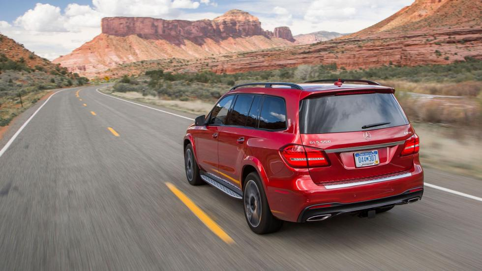 Mercedes GLS 550 trasera coches usa
