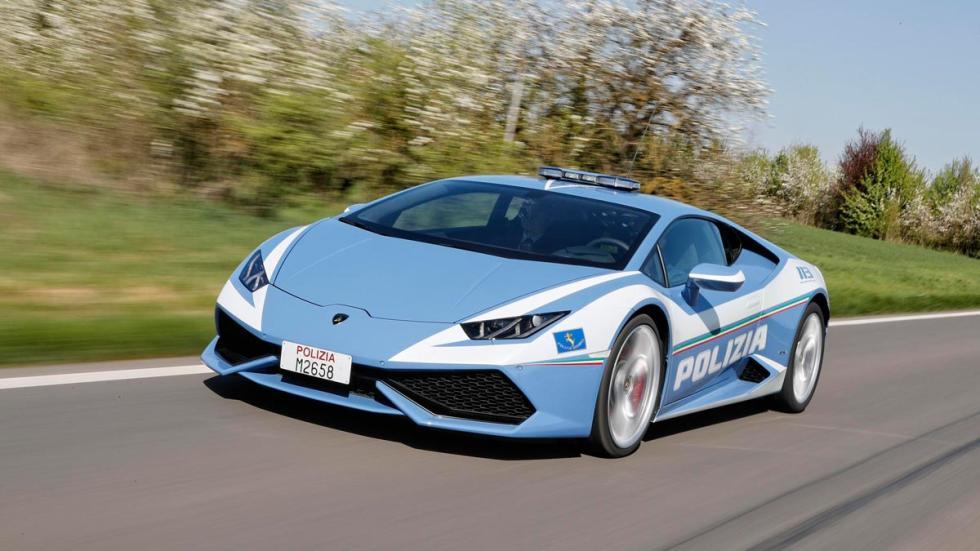 Nuevo Lamborghini Huracán de la Policía Italiana coches superdeportivos