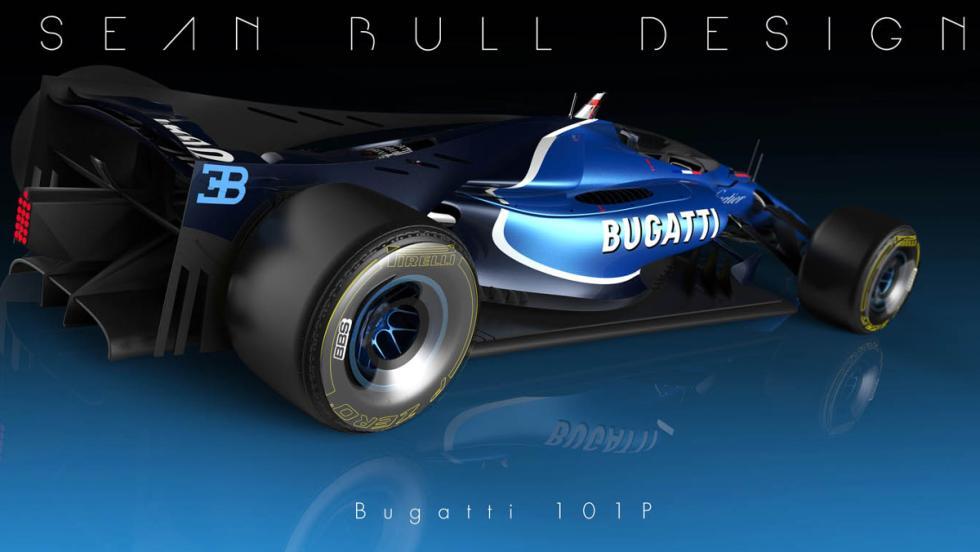 Parte lateral derecha del Bugatti 101P