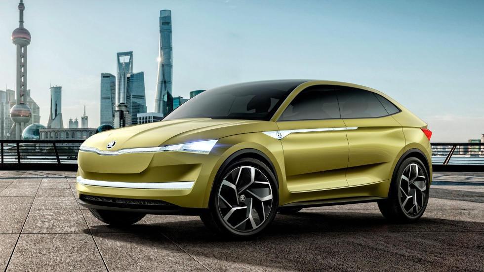 Skoda Vision E suv eléctrico autonomo coche