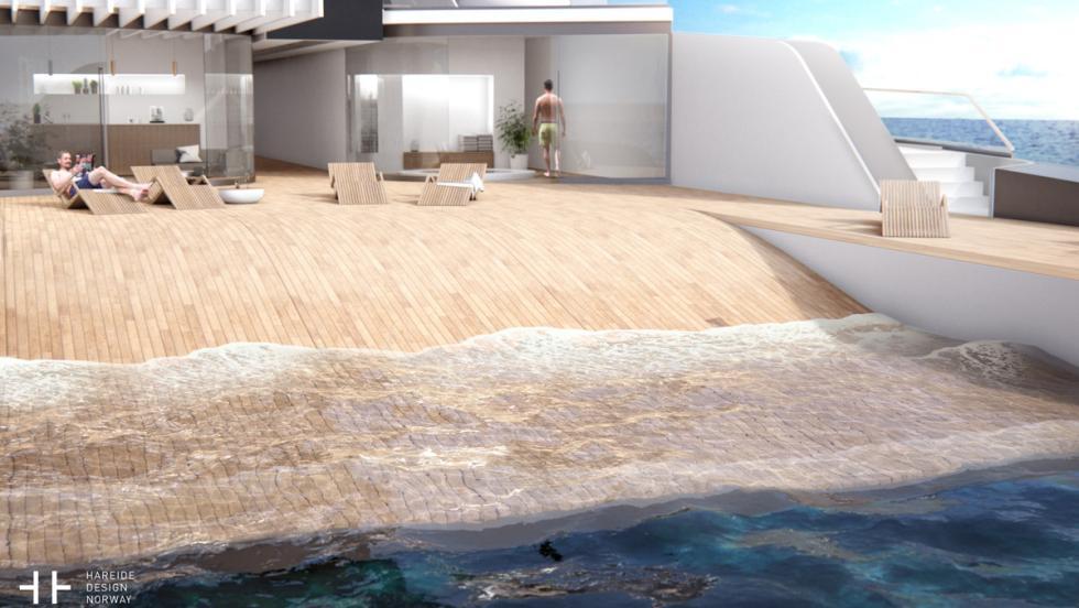 Yate con playa privada (II)