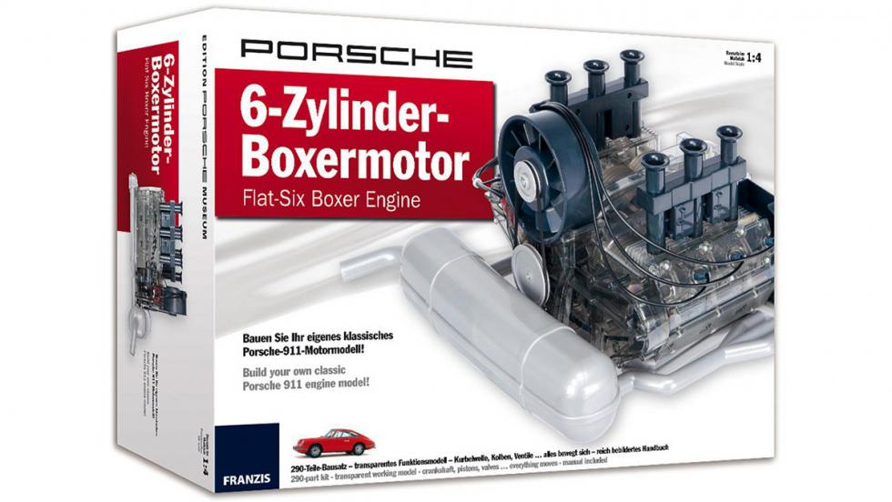 Los 10 mejores regalos para fanáticos de Porsche - Maqueta del motor bóxer de un 911