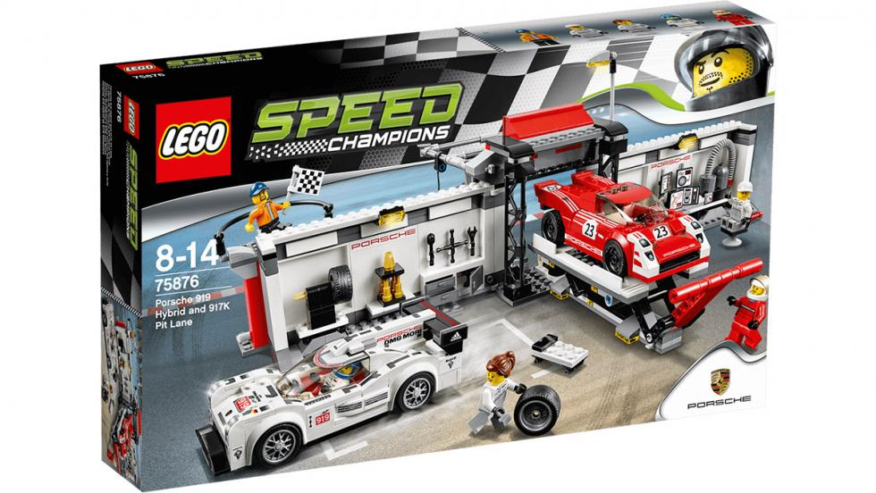 Los 10 mejores regalos para fanáticos de Porsche - Puesto de reparación para Porsche 919 Hybrid y 917 K de Lego