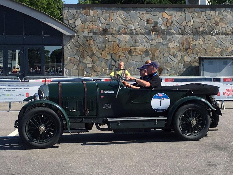 El Bentley 3 Litros de 1923, uno de los coches más espectaculares y antiguos de la Mille Miglia