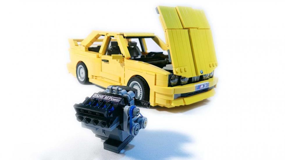 BMW M3 E30 Lego capó
