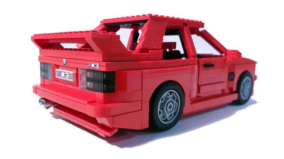 BMW M3 E30 Lego tres cuartos traseros