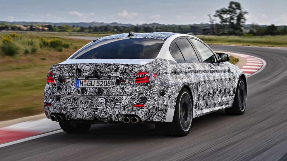 BMW M5 2017 trasera