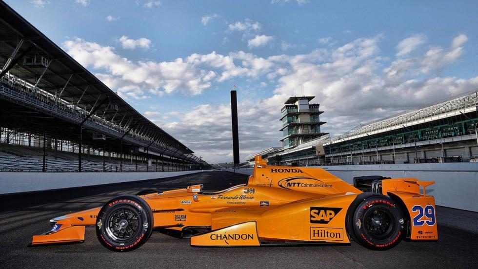 Las fotos del McLaren-Honda de Alonso en la Indycar