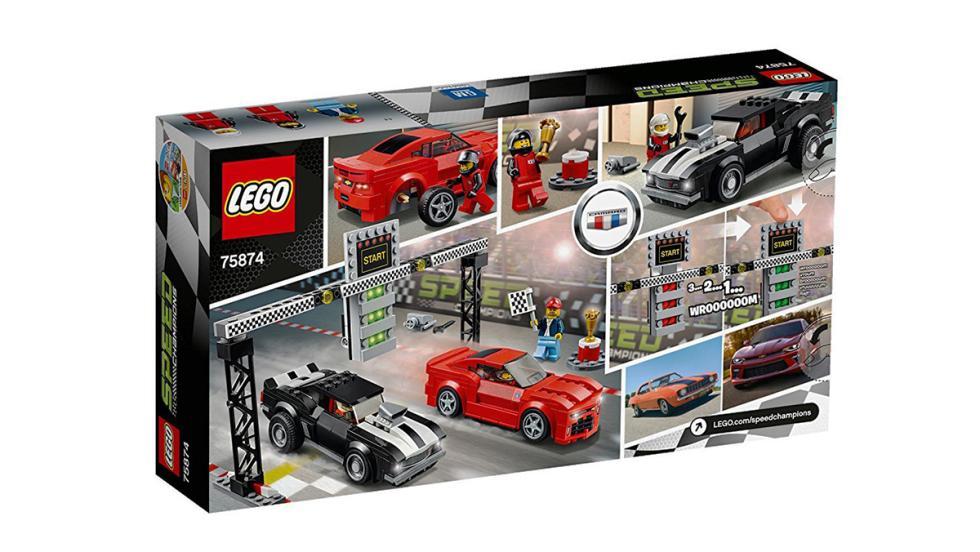 Los mejores coches de Lego por menos de 100 euros - La mejor drag race con dos Chevrolet Camaro