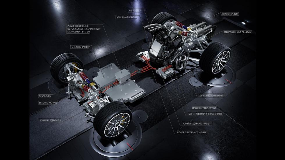 Motor Mercedes-AMG Project One mapa técnico