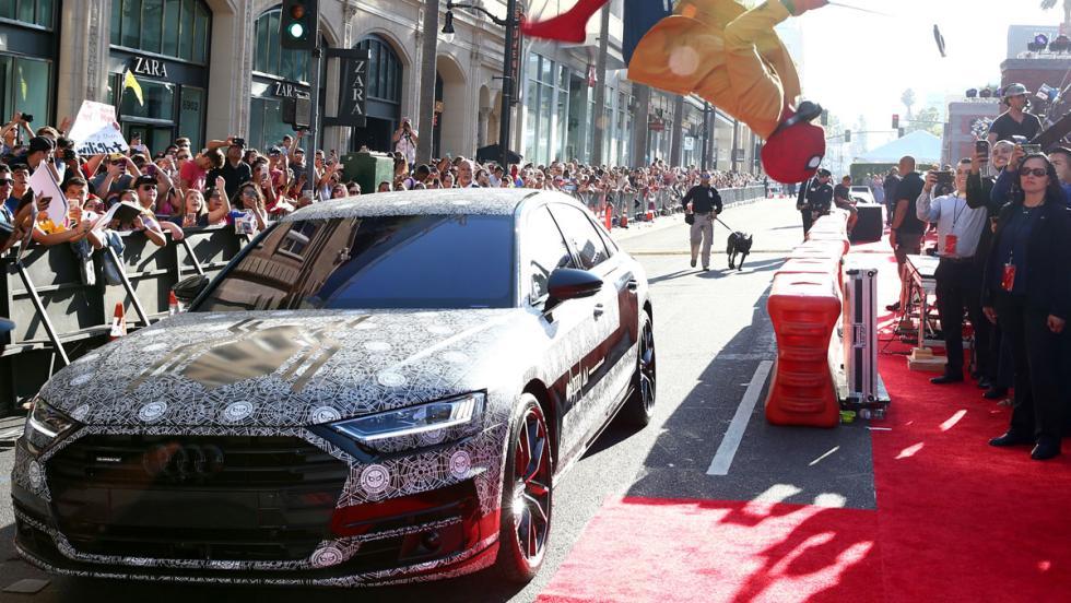 Audi A8 2018 camuflado, en el estreno de Spiderman (III)