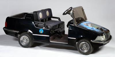 Un carrito de golf convertido en el coche de 'Peter Pan'