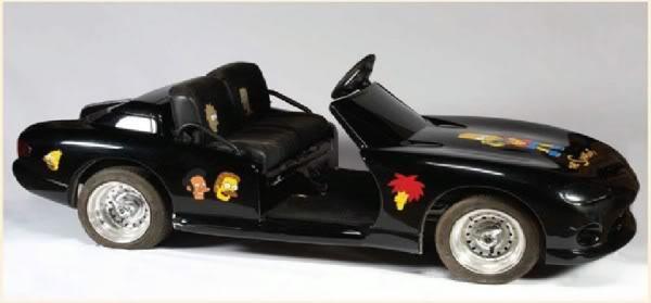 Un pequeño 'coche' modelo Los Simpson