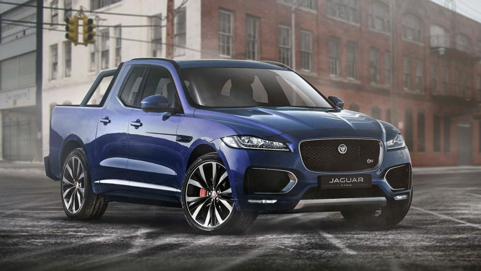 Renders de coches de lujo convertidos en pick-ups: Jaguar F-Pace