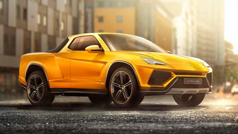 Renders de coches de lujo convertidos en pick-ups: Lamborghini Urus