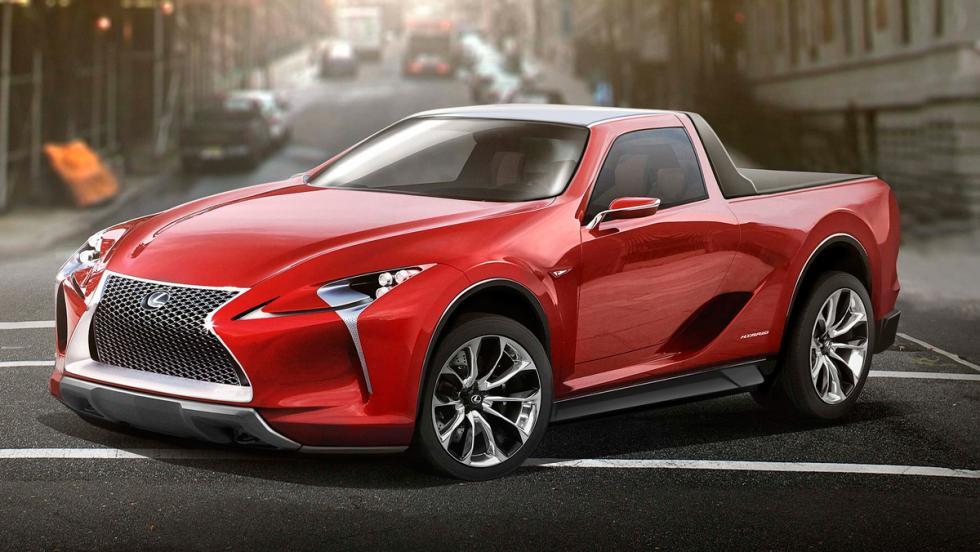 Renders de coches de lujo convertidos en pick-ups: Lexus LF LC