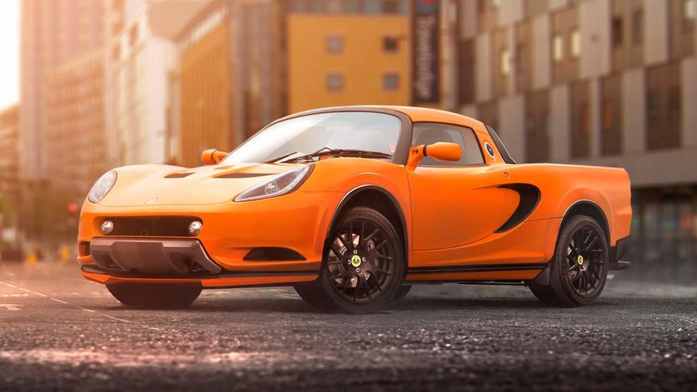 Renders de coches de lujo convertidos en pick-ups: Lotus Elise