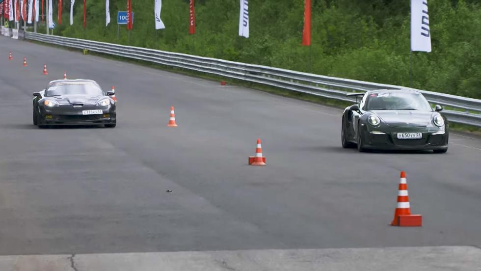 Un 911 GT3 RS contra un SLS AMG de 800 CV
