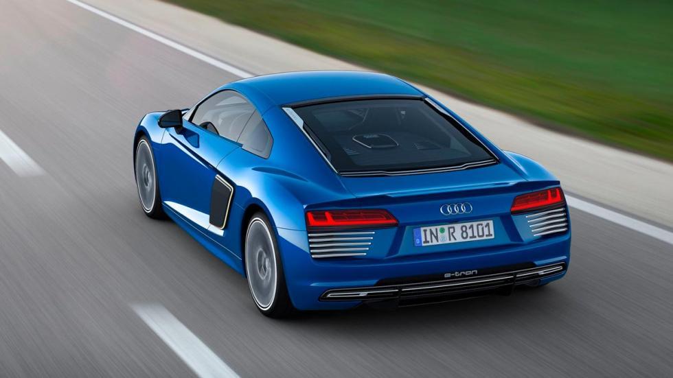 Audi R8 e-tron 2016 Top Gear azul eléctrico deportivo