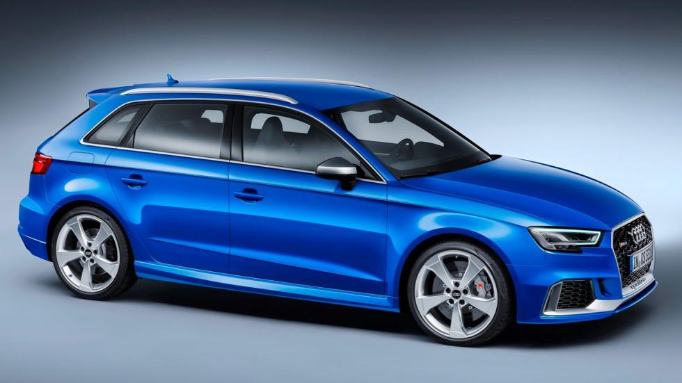 Audi RS3 deportivo compacto azul