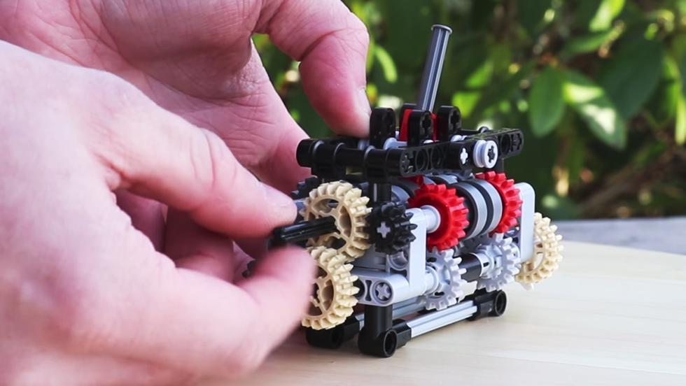 La caja de cambios de Lego