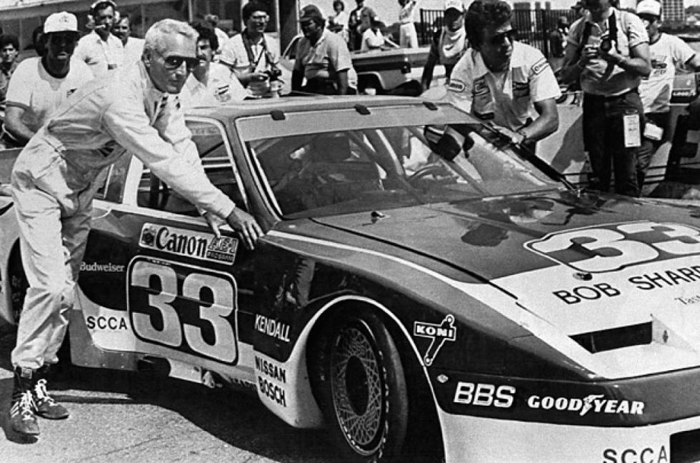 Newman antes de una carrera