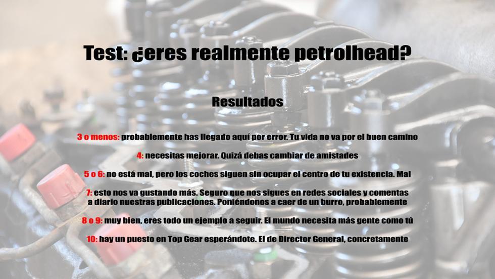 Test: ¿eres realmente petrolhead? - ¡Resultados!