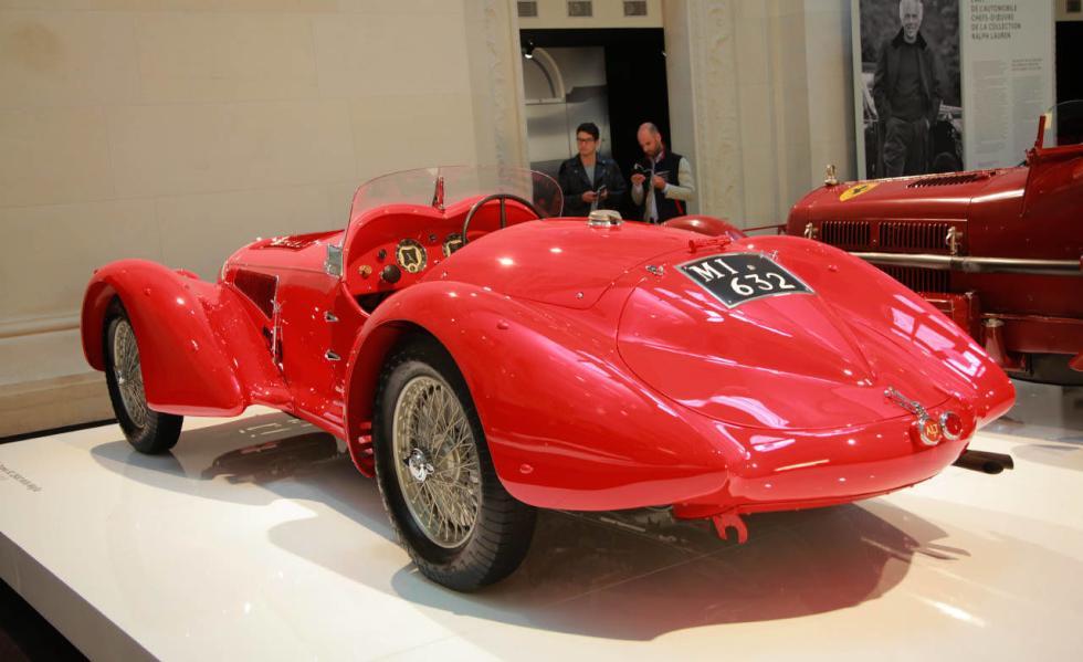 Zaga del Alfa Romeo Mille Miglia 8C 2900 B del ´38