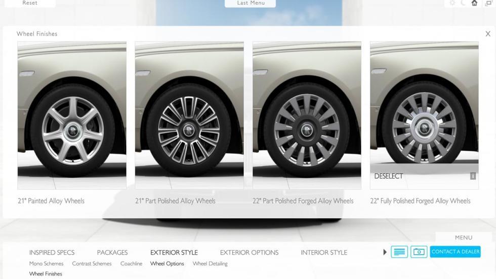 Configurador Rolls-Royce Phantom 2018