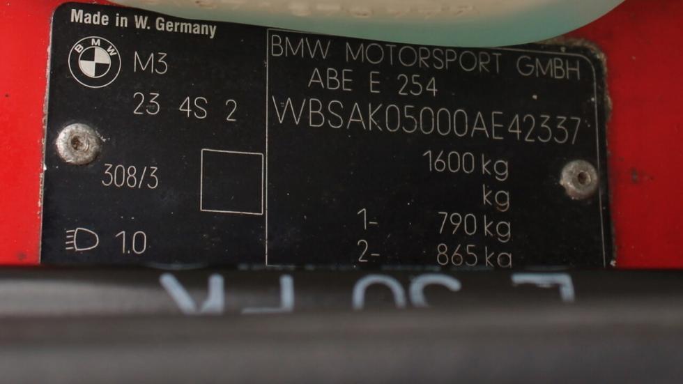 Subasta BMW M3 E30 1991