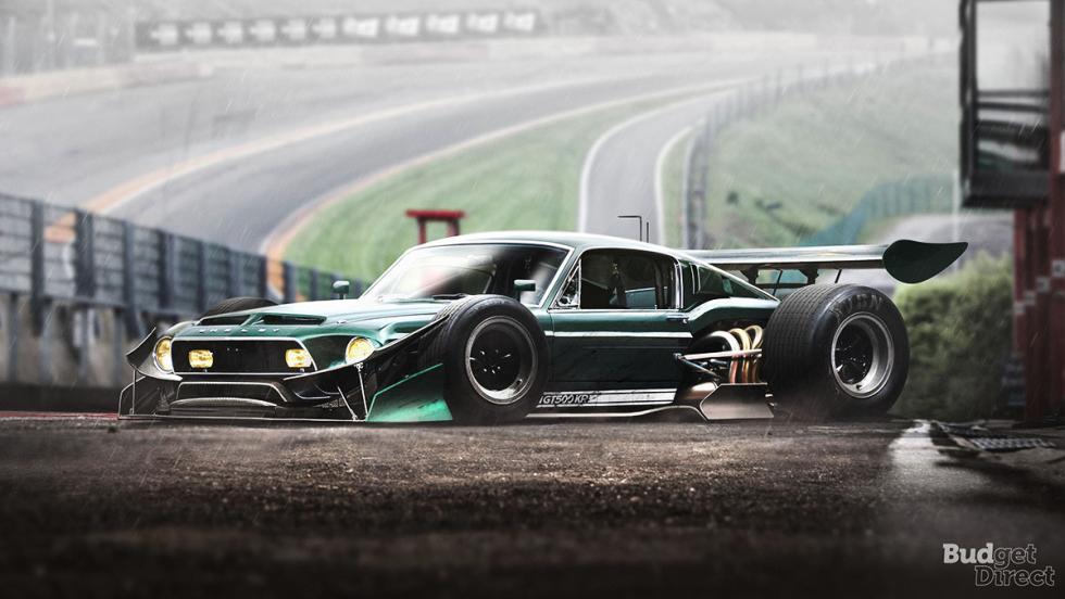 9 coches convertidos en monoplazas de fórmula 1 - Ford Mustang
