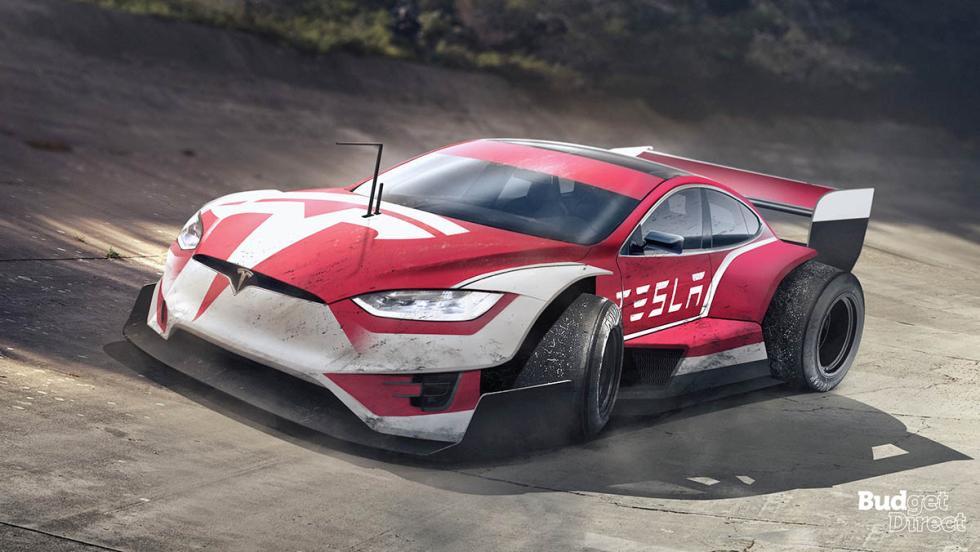 9 coches convertidos en monoplazas de fórmula 1 - Tesla Model S
