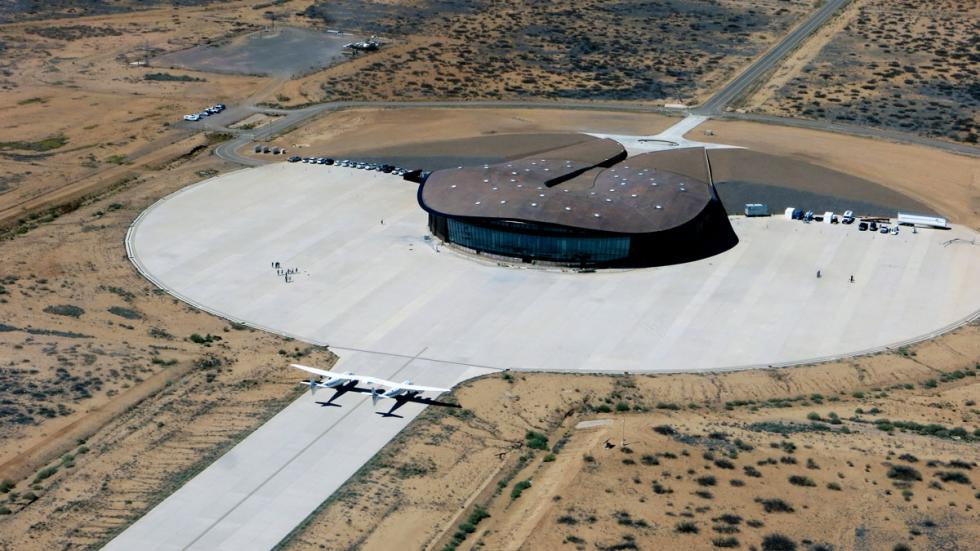 Este es el Spaceport America, en Nuevo México, el Barajas de los vuelos espaciales