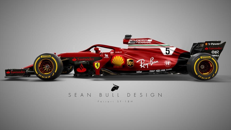 El Ferrari 2018 de Sean Bull