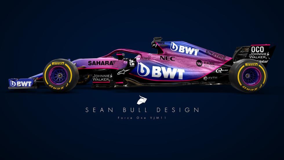 El Force India 2018 de Sean Bull