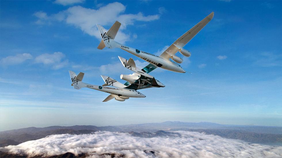 Lanzadera más nave espacial. Juntos hasta 14.600 metros de altura