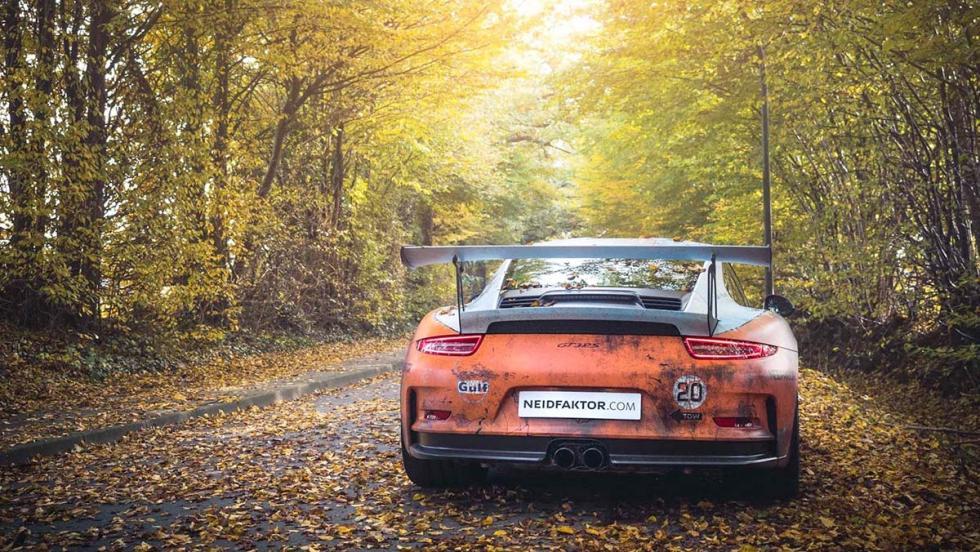 El Porsche 911 GT3 RS Gulf de Neidfaktor