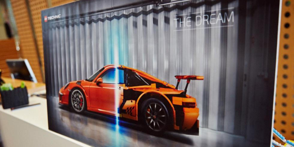 Porsche 911 GT3 RS Lego (póster)