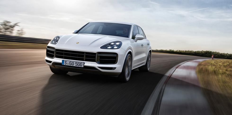 Porsche Cayenne Turbo 2018 (frontal)