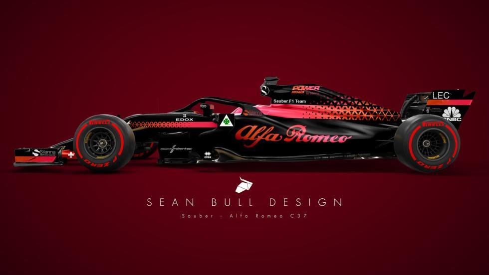 El Sauber 2018 de Sean Bull