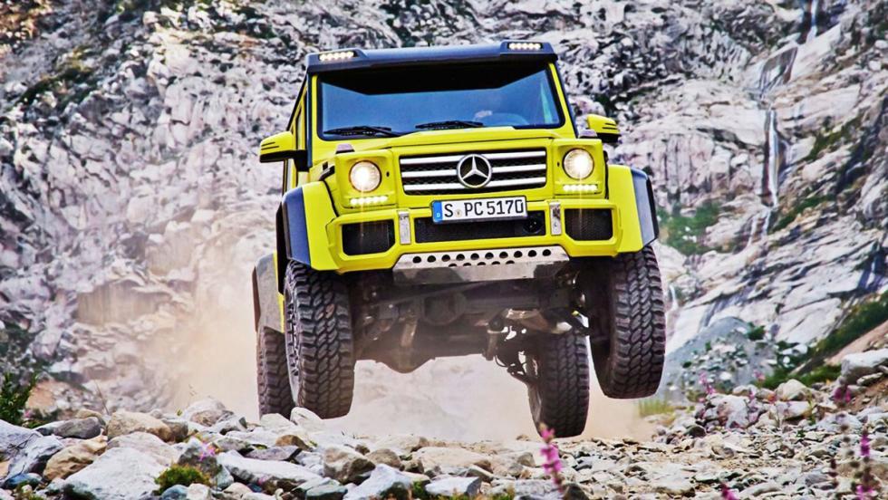 5 coches para ser el rey de tu barrio - Mercedes G500 4x4 al cuadrado