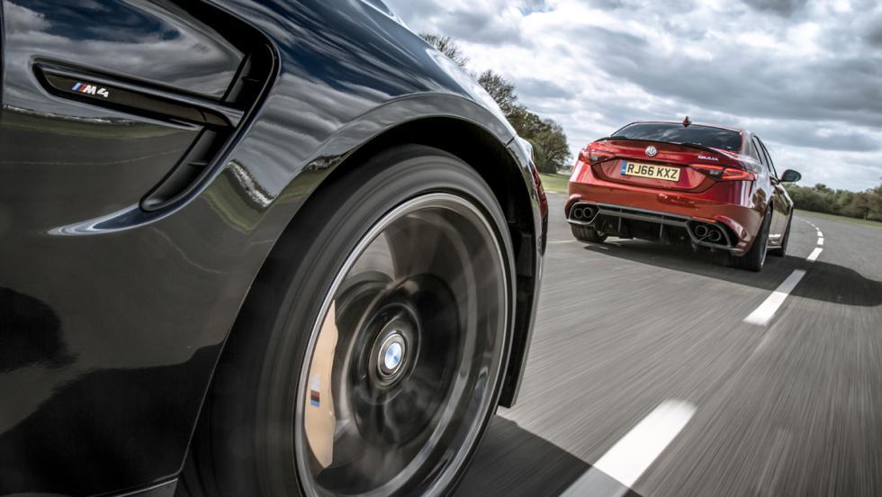 Alfa Romeo Giulia QV vs BMW M4 M Competition (dinámica)