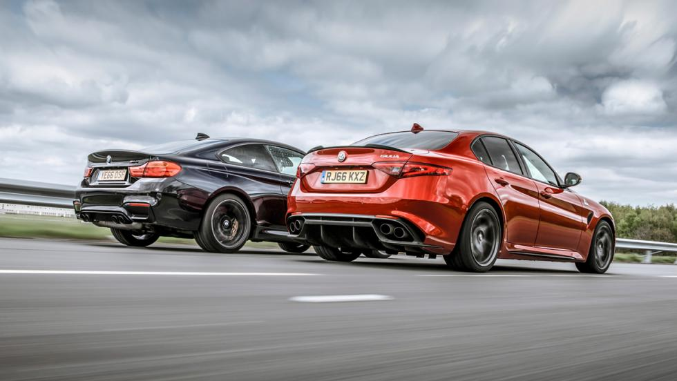 Alfa Romeo Giulia QV vs BMW M4 M Competition (zaga)
