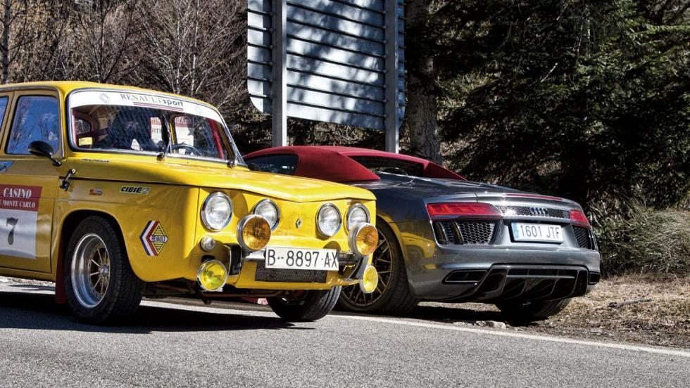 Audi R8 V10 Spyder y Renault 8