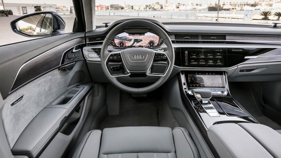 Prueba Audi A8 2017 (puesto conducción)