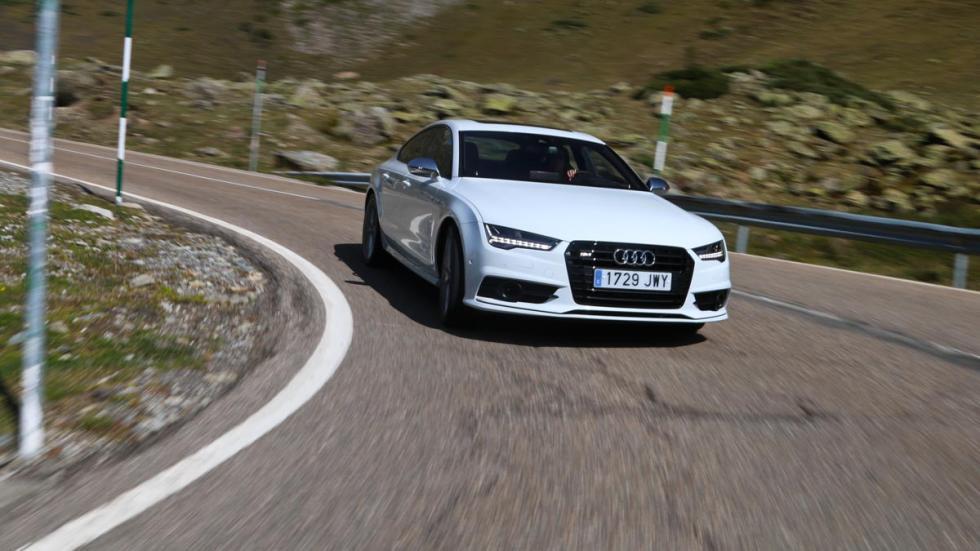 Prueba Audi S7 sedán deportivo lujo Bonaigua montaña