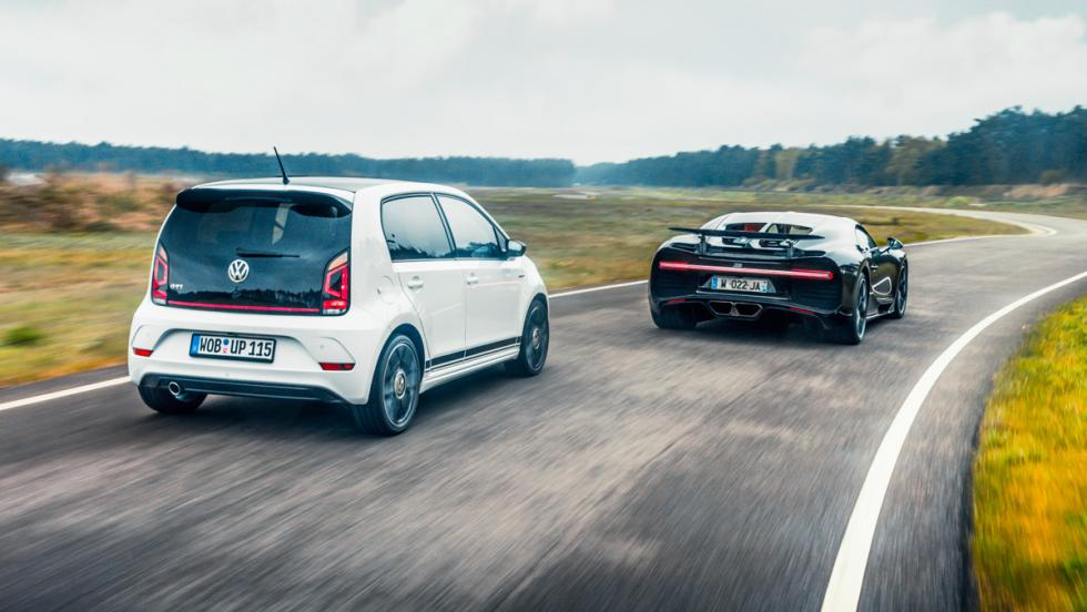 Volkswagen up! GTI vs Bugatti Chiron (2)
